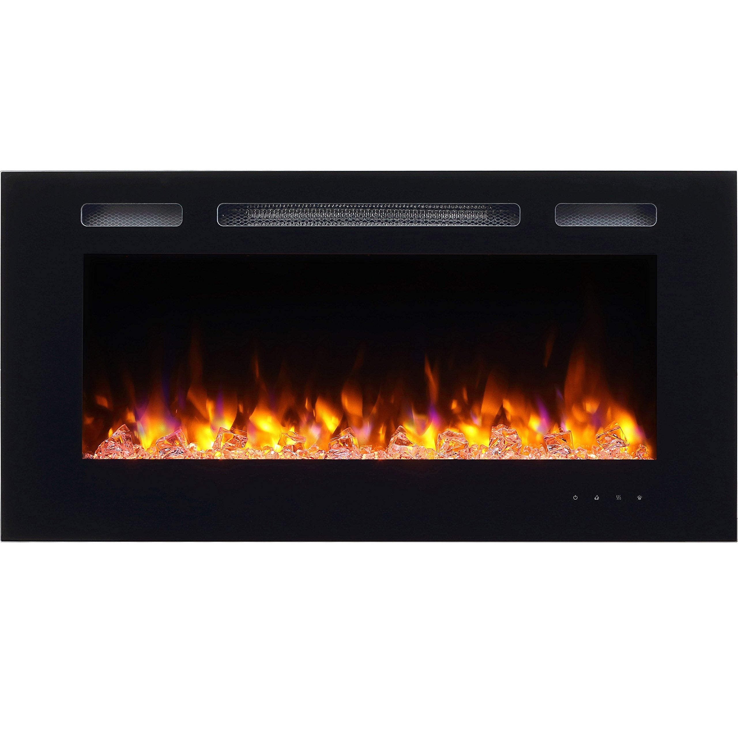 puraflame alice 40 recessed electric fireplace wall mounted for 2 x 6 stud
