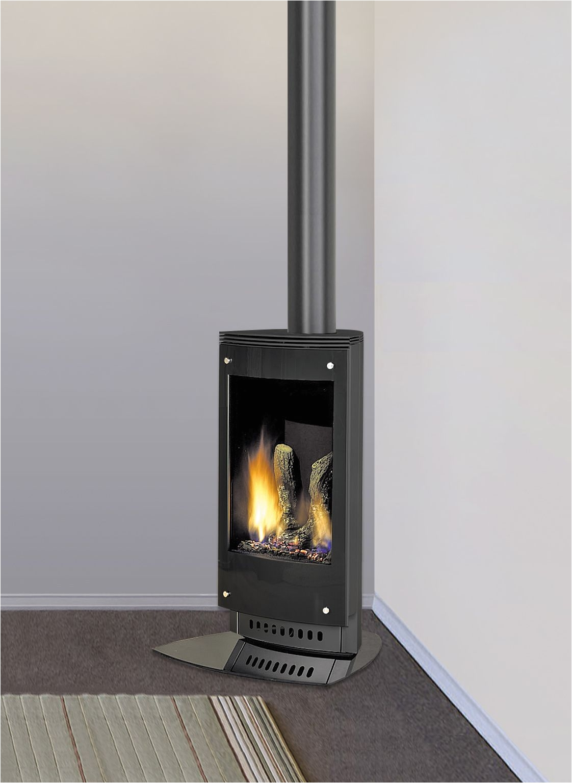 heat glo vrtikl sleek lines and contemporary style with the practicality efficiency and