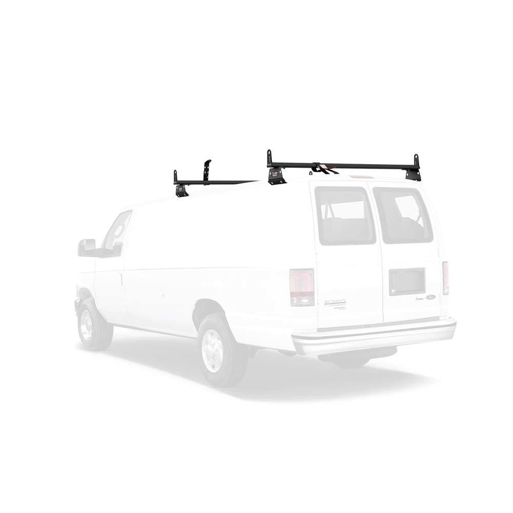 amazon com vantech aluminum h3 rack 2 bar system for a chevy express 1996 on automotive
