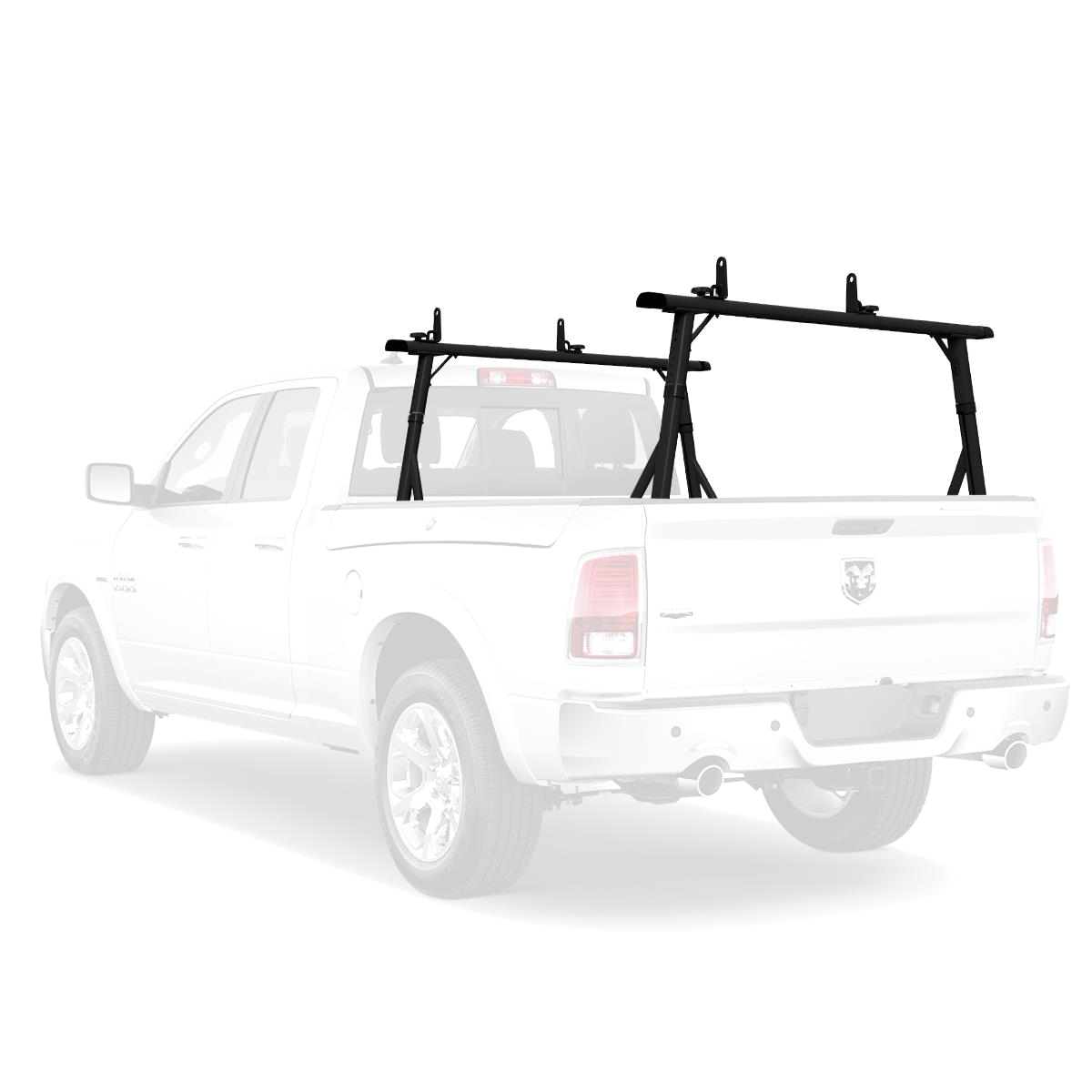 vantech p3000 aluminum ladder rack system fits ram rambox pickup truck black