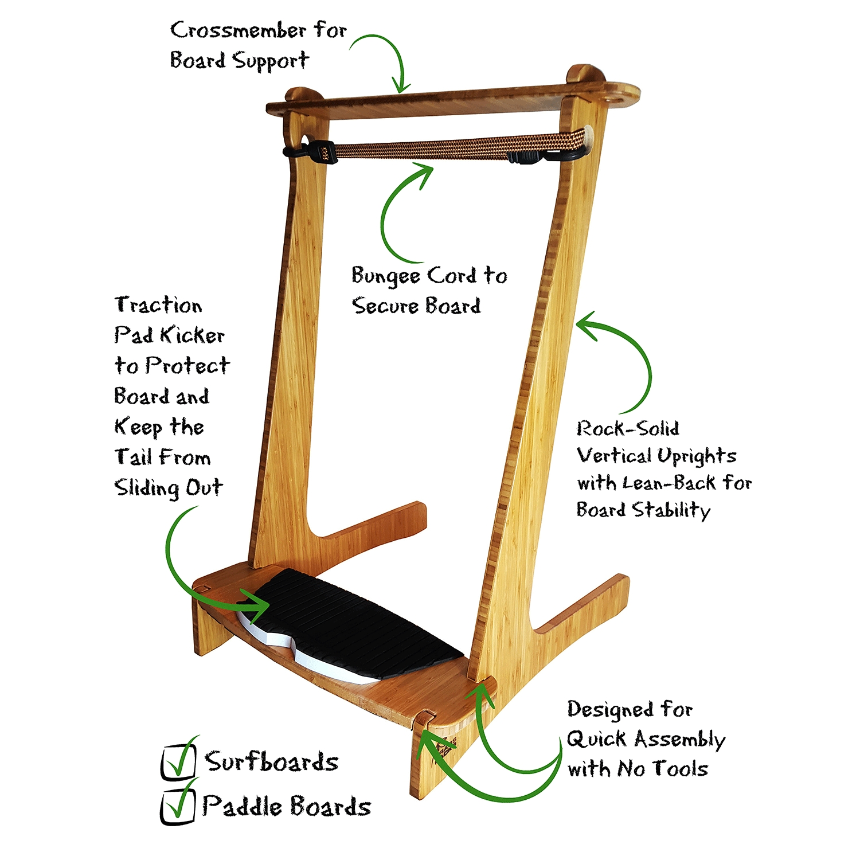 freestanding vertical sup rack surf rack