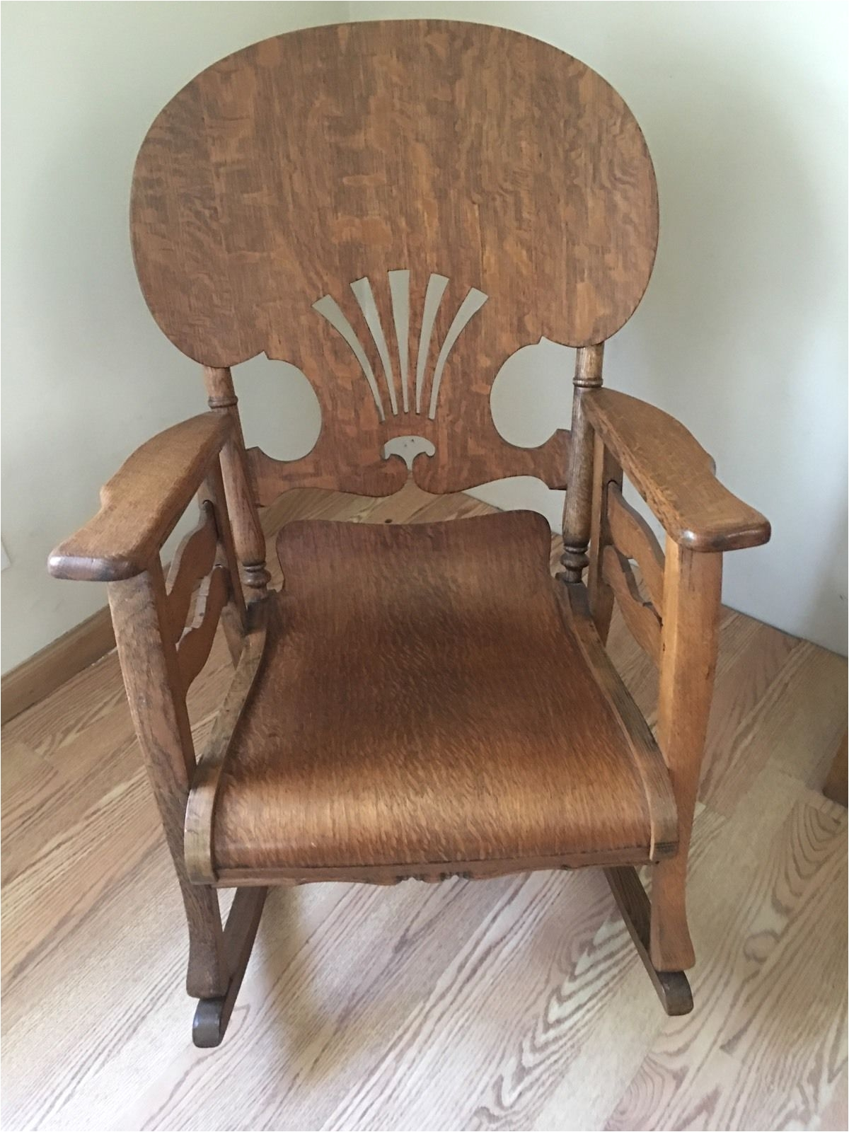 Vintage Sewing Chair with Storage original Antique Primitive Press Back Rocking Chair 1890 1900 S