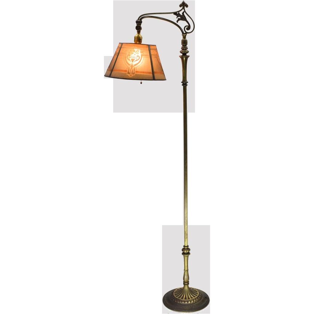 Vintage Yellow Floor Lamp 1930s Almco Mslc Floor Lamp Vintage Art Nouveau I Love Lighting