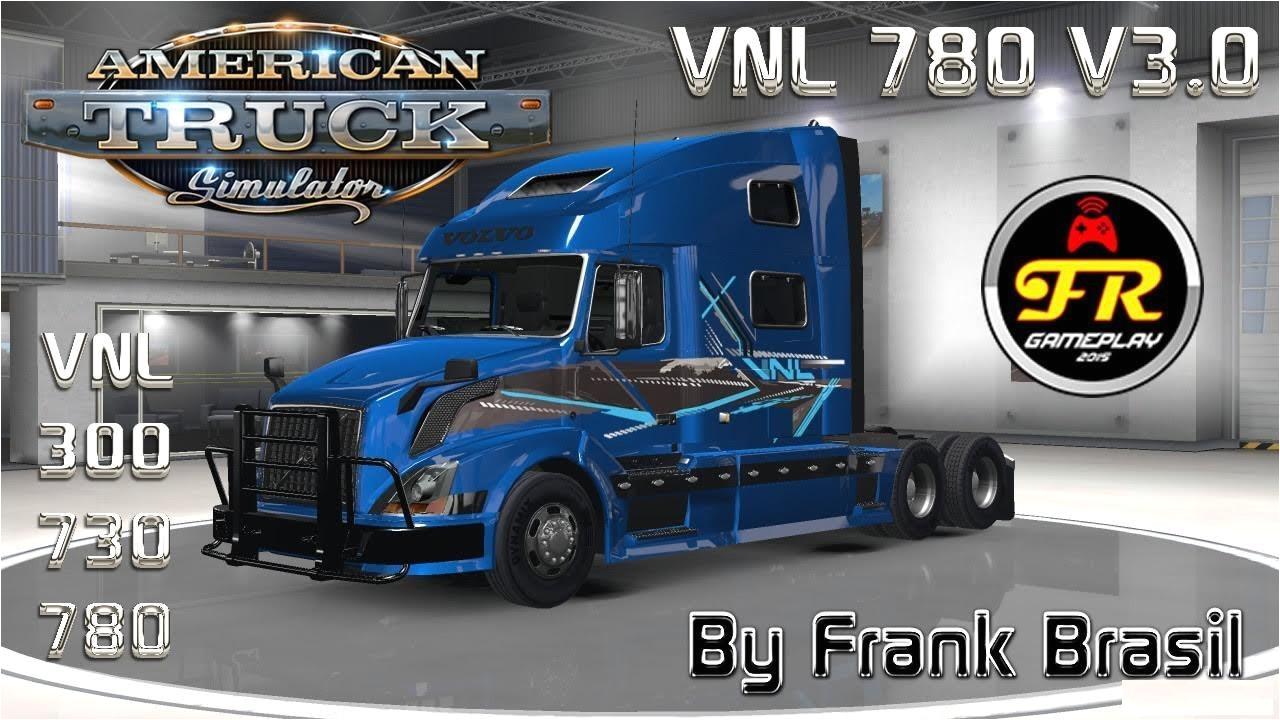volvo vnl 780 truck shop v3 0 ats 1 6 x by frank brasil mod