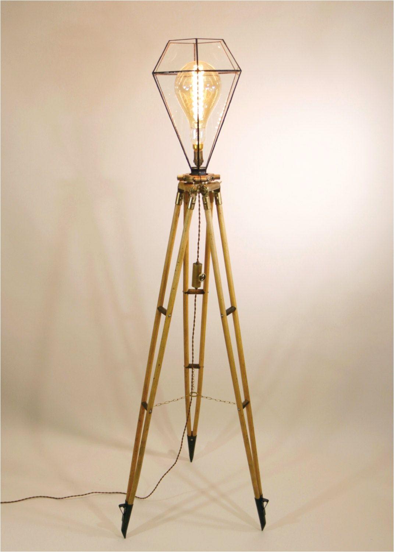 Walker Brass Floor Outlet Cover Vintage Surveyor S TriPod Floor Lamp Surveying Stand Lamp Oak