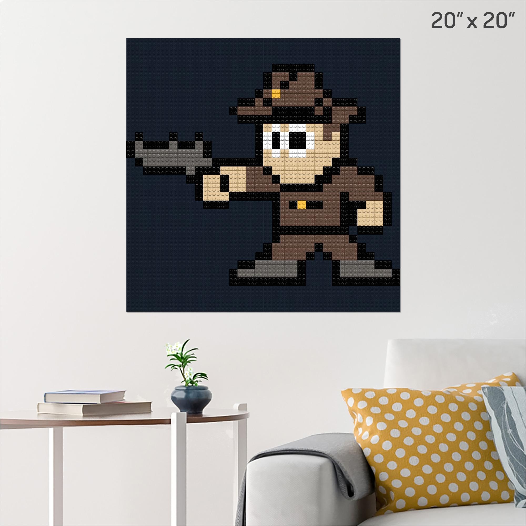 walking dead rick pixel art pixel brik wall poster 2x2 black building bricks 5a24f9bdf6c96a8d29720c6e jpg