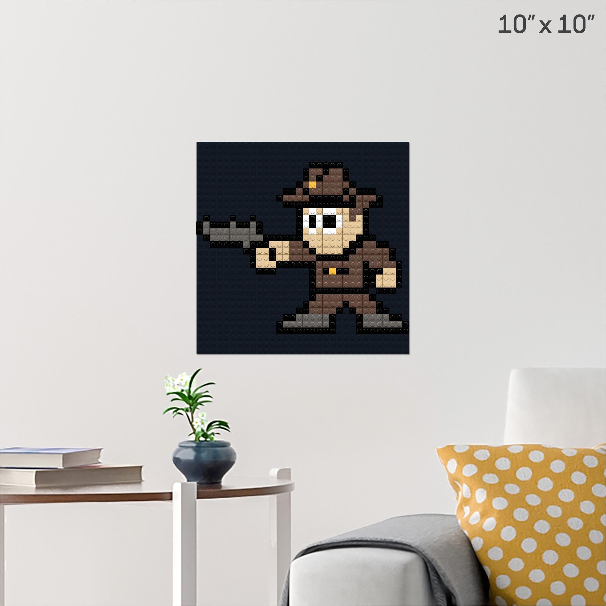walking dead rick pixel art pixel brik wall poster 1x1 black building bricks 5a24f9bdf6c96a8d29720c6e jpg