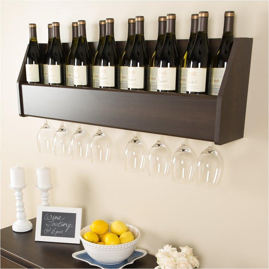 prepac furniture 18 bottle espresso wall mount wine rack