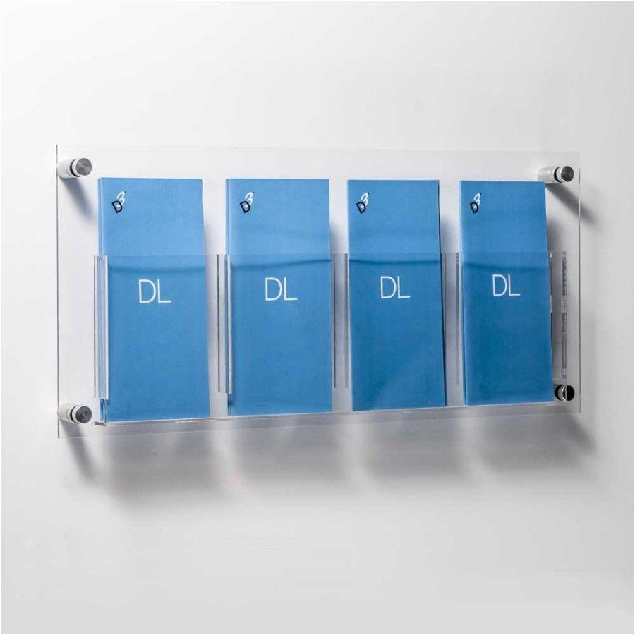 dl leaflet holders wall mounted quad pocket