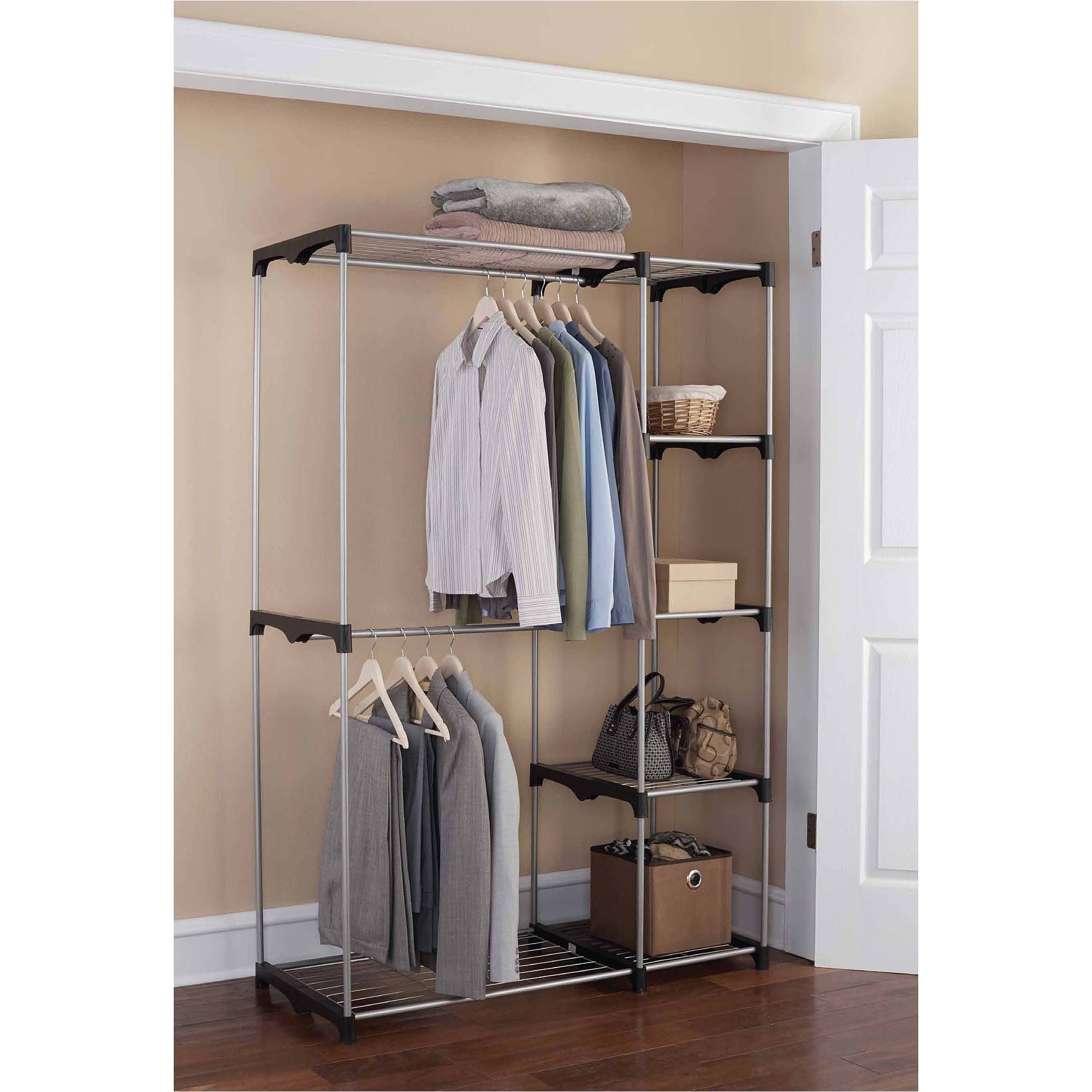 mainstays wire shelf closet organizer 2 tier easy to assemble