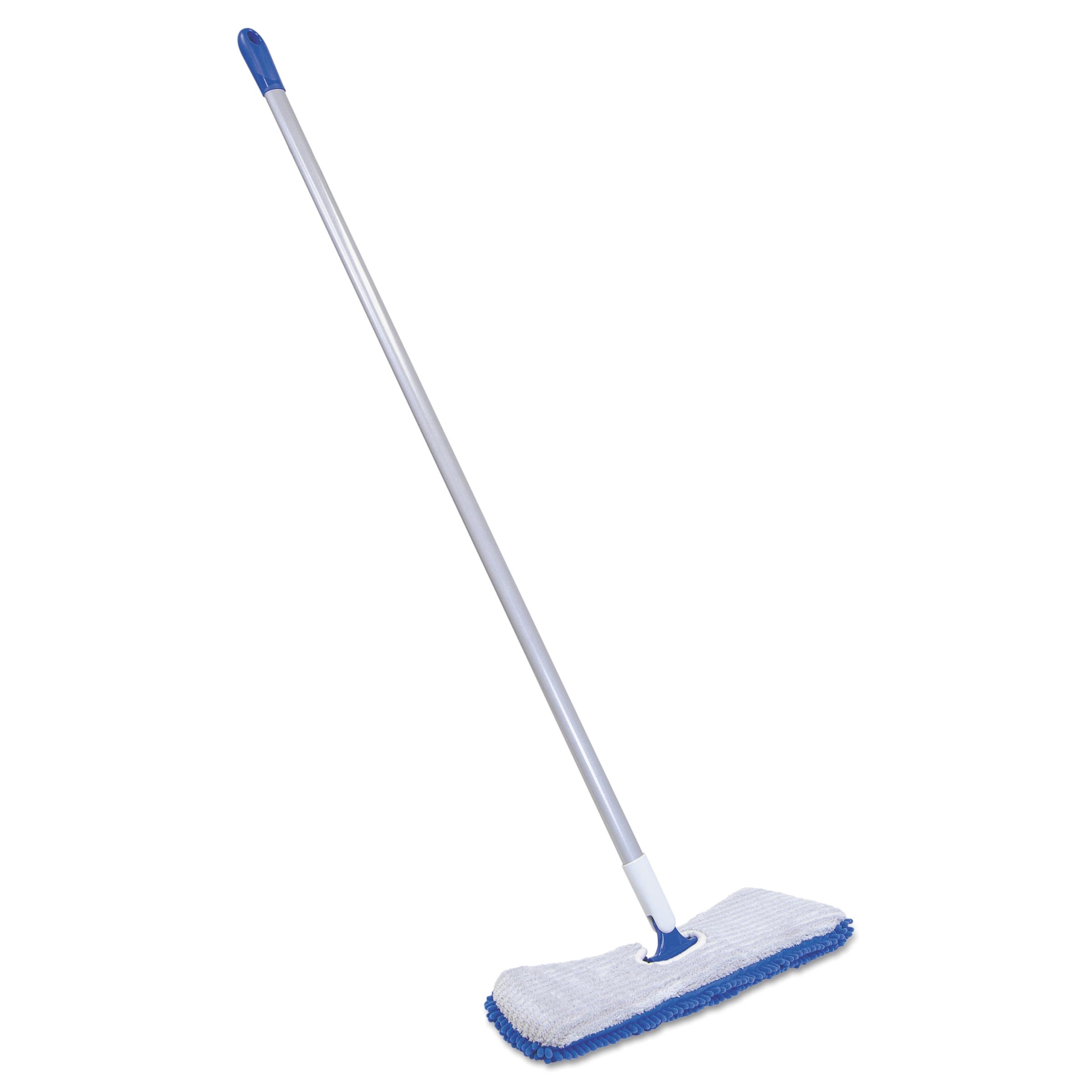 quickie flip amp shine microfiber floor mop 19 1 2 head 48 handle blue gray walmart com