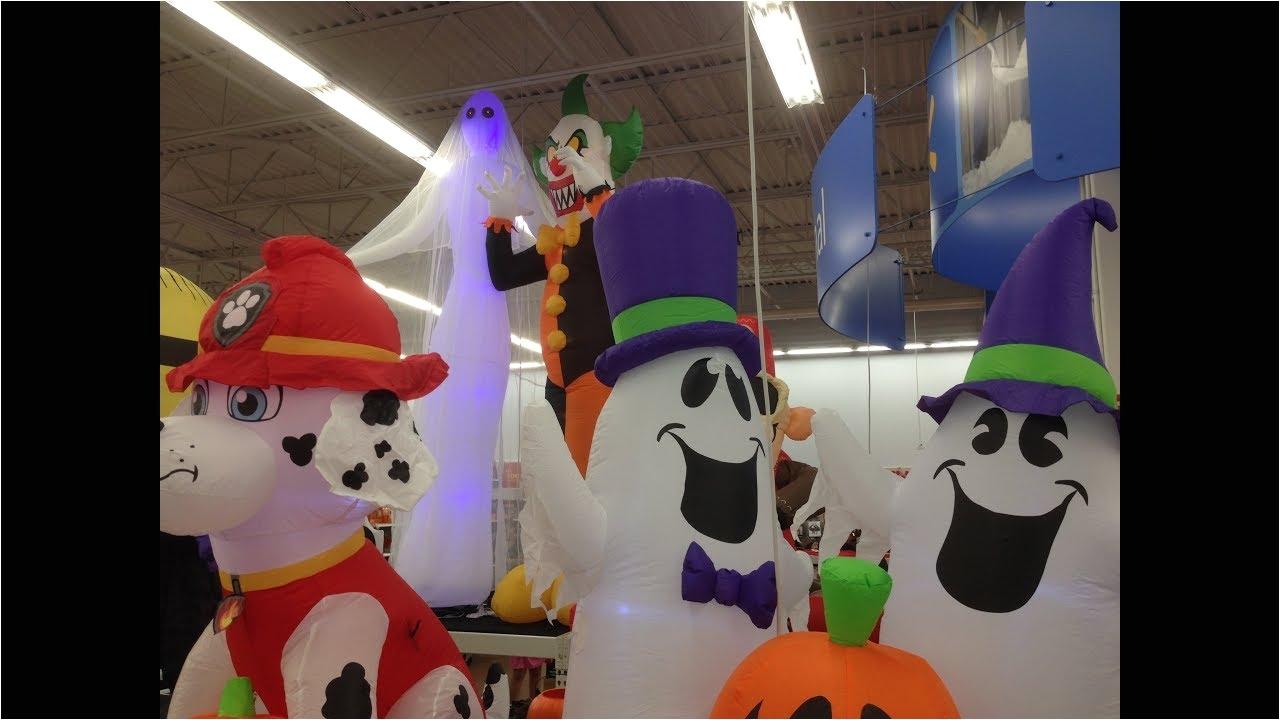 walmart inflatable halloween decorations walmart halloween inflatables 2017 youtube