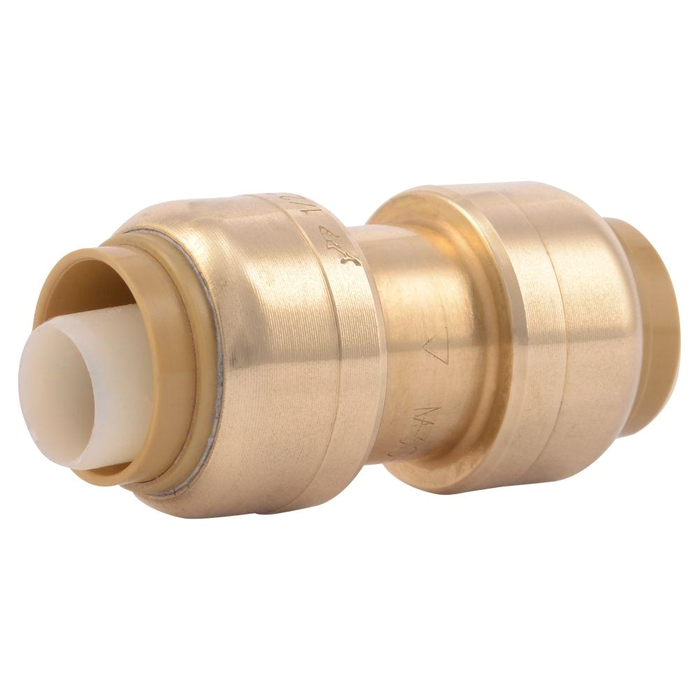 1 2 in brass push to connect coupling