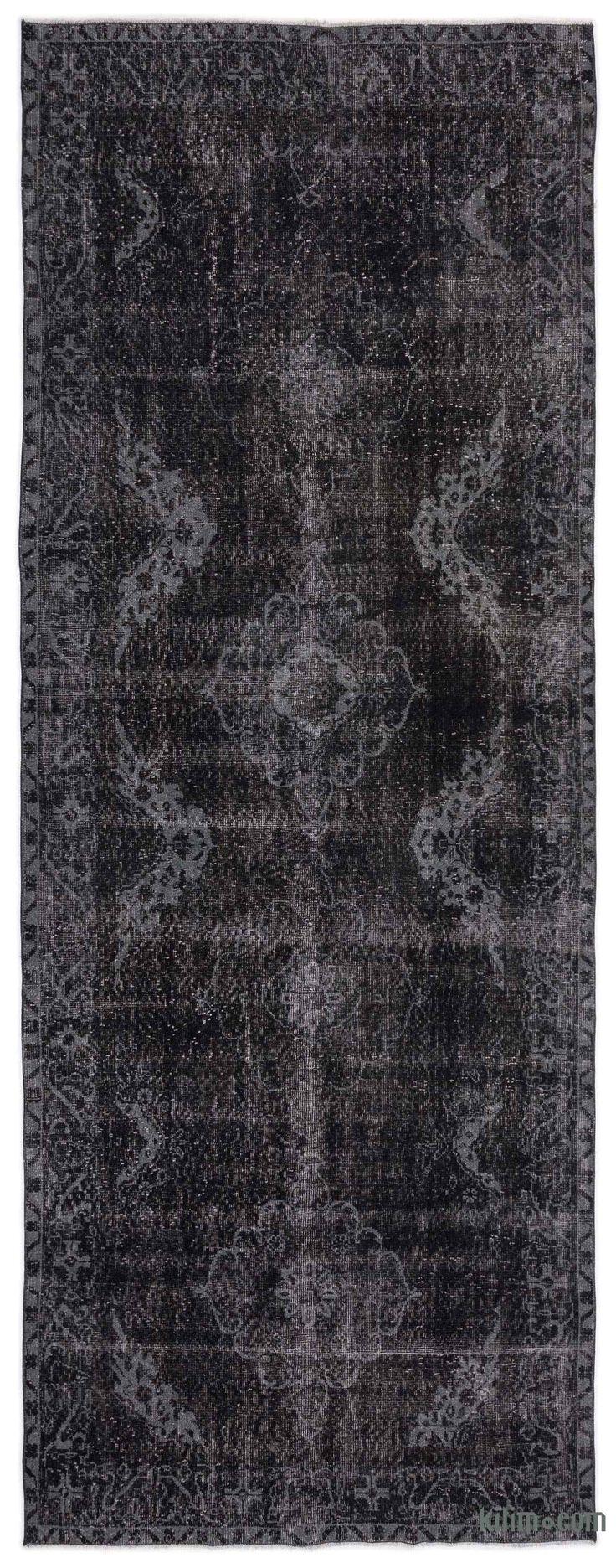 over dyed turkish vintage rug