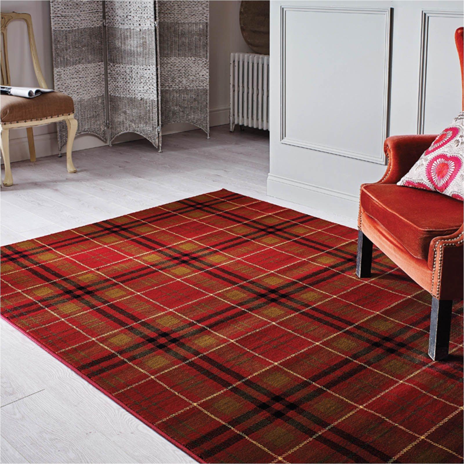 love love lovea i traditional tartan glen kilry rugs in red