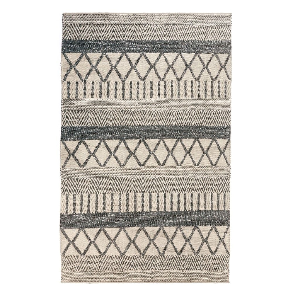 our nandak rug has been hand woven from the finest wool blend by artisans in haryana