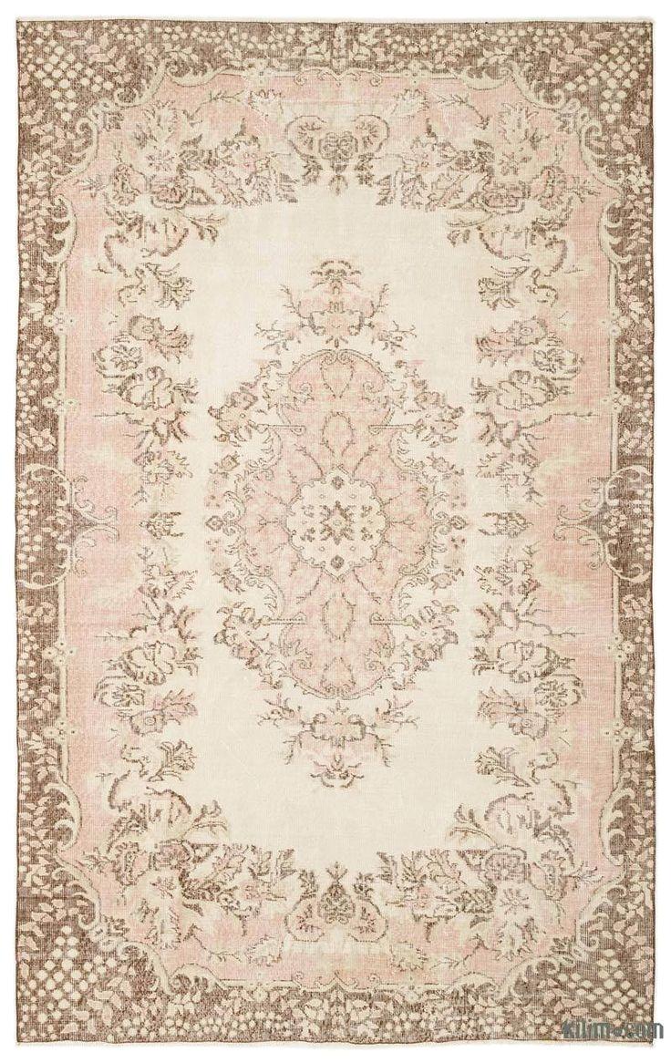 k0023695 beige over dyed turkish vintage rug kilim rugs overdyed vintage rugs