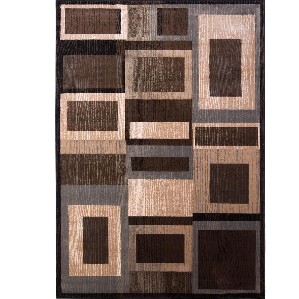 bazaar gal 1196 black brown 8 ft x 10 ft indoor area rug