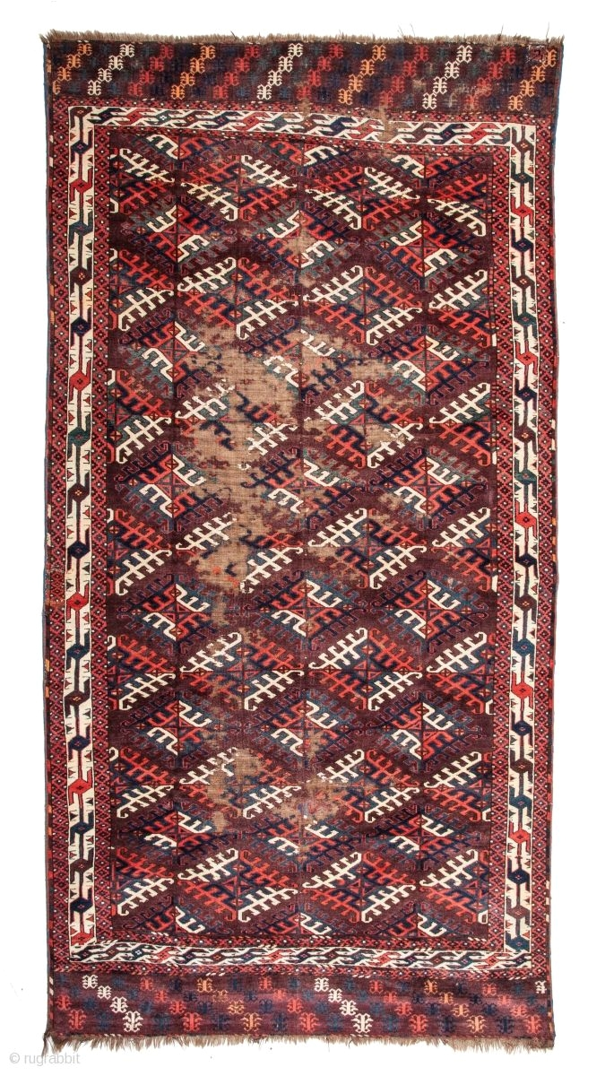 turkmen yomud main rug 150 x 295 cm 4 9