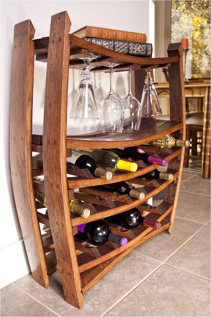 wine rack i made from french oak wine barrels