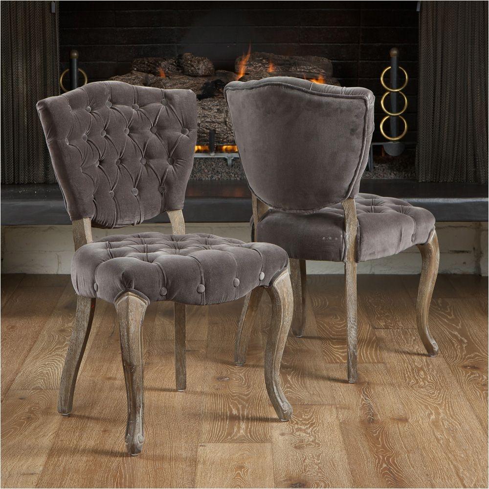 White and Purple Vanity Chair Costco Uk Montecito Tufted Velvet Vanity Chair 2 Pack Dining