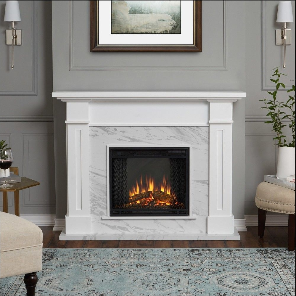 real flame kipling indoor electric fireplace white marble burnished oak