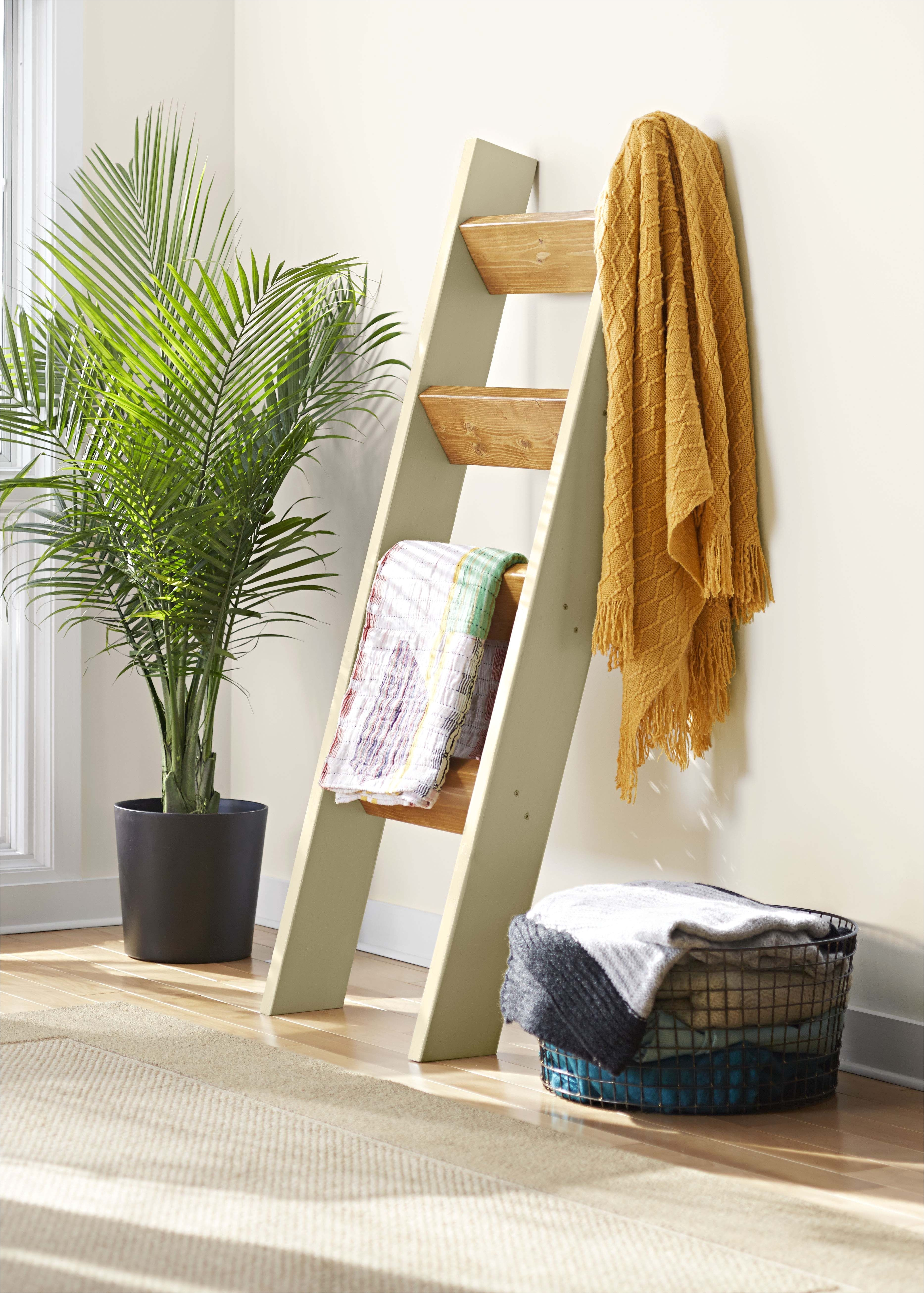 White Wall Mounted Quilt Rack Show Off Your Favorite Quilts Throws and Blankets by Draping them