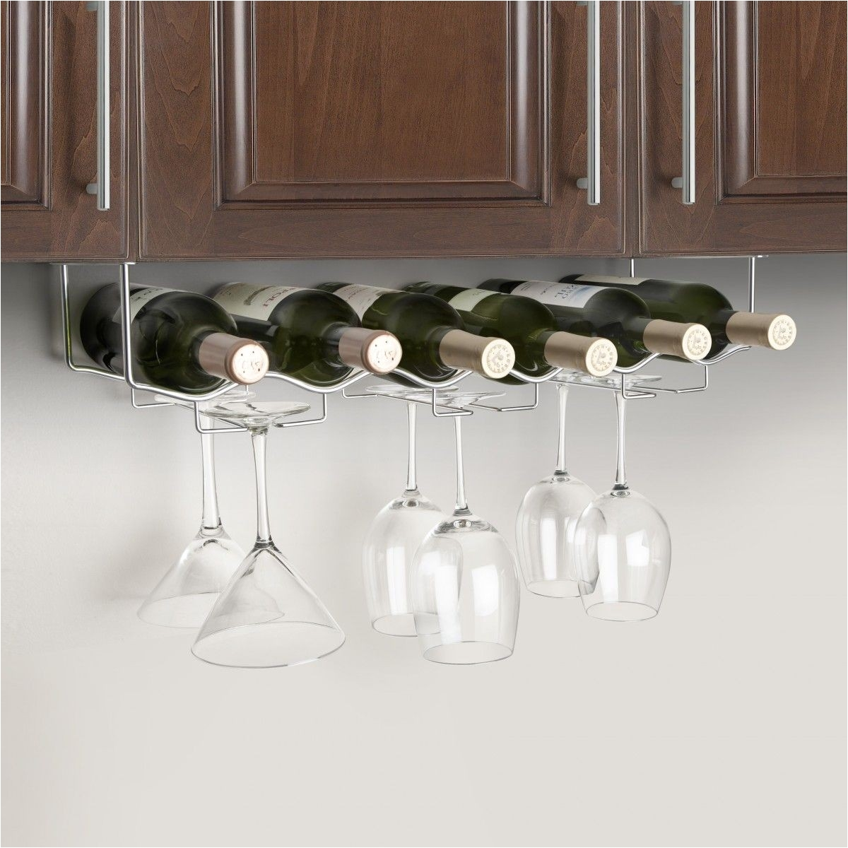 under cabinet 6 bottle wine glass rack jpg