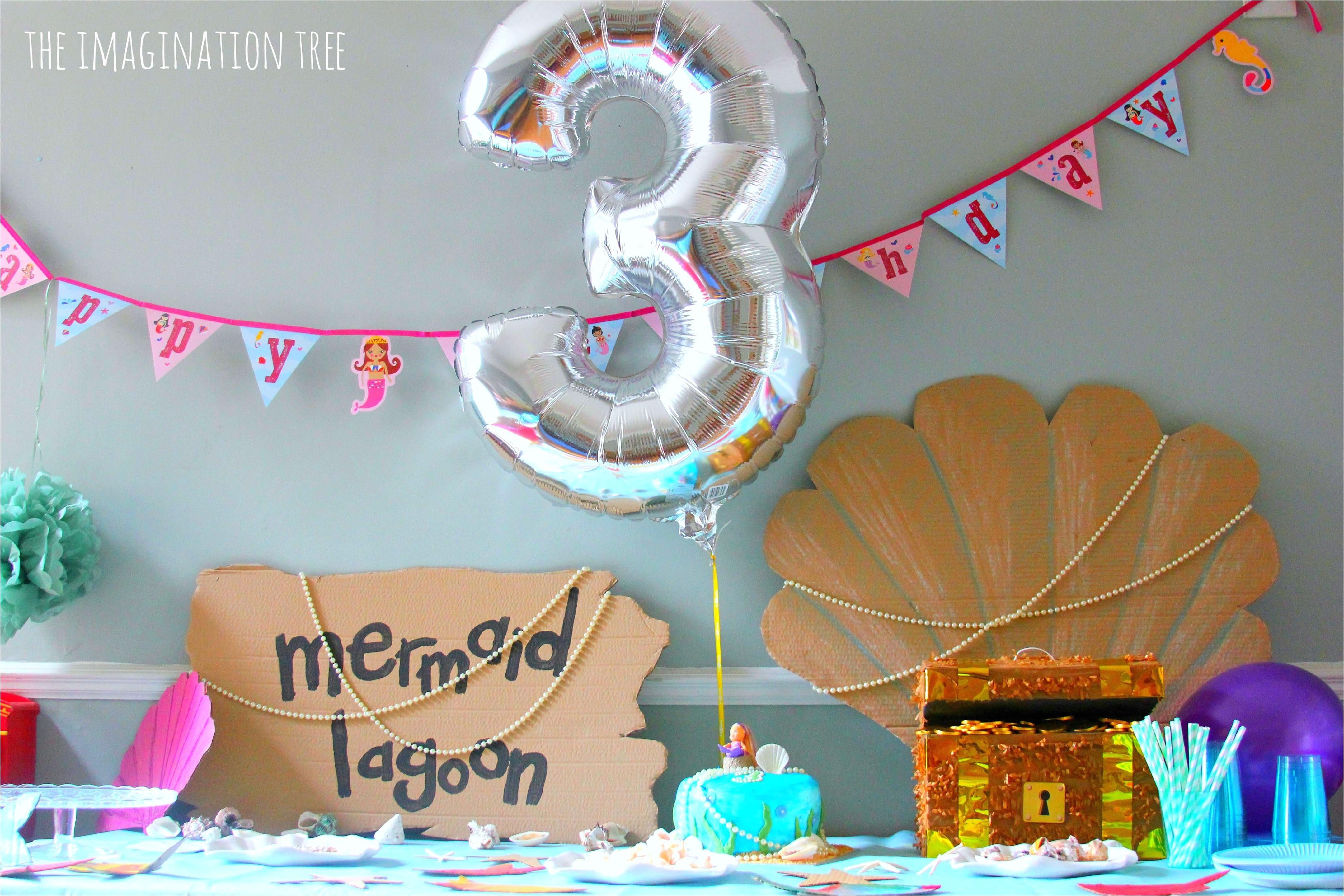 mermaid birthday party decorations
