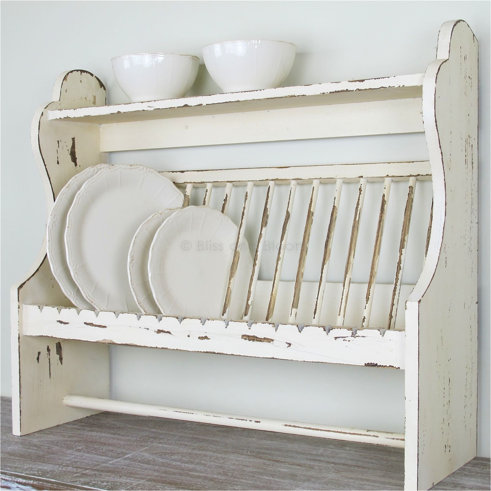 wooden plate rack shelf code rxi21764