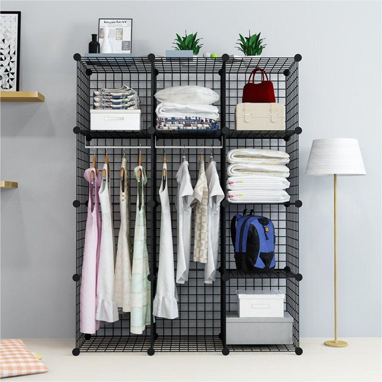 amazon com unicoo multi use diy 12 cube wire grid organizer bookcase