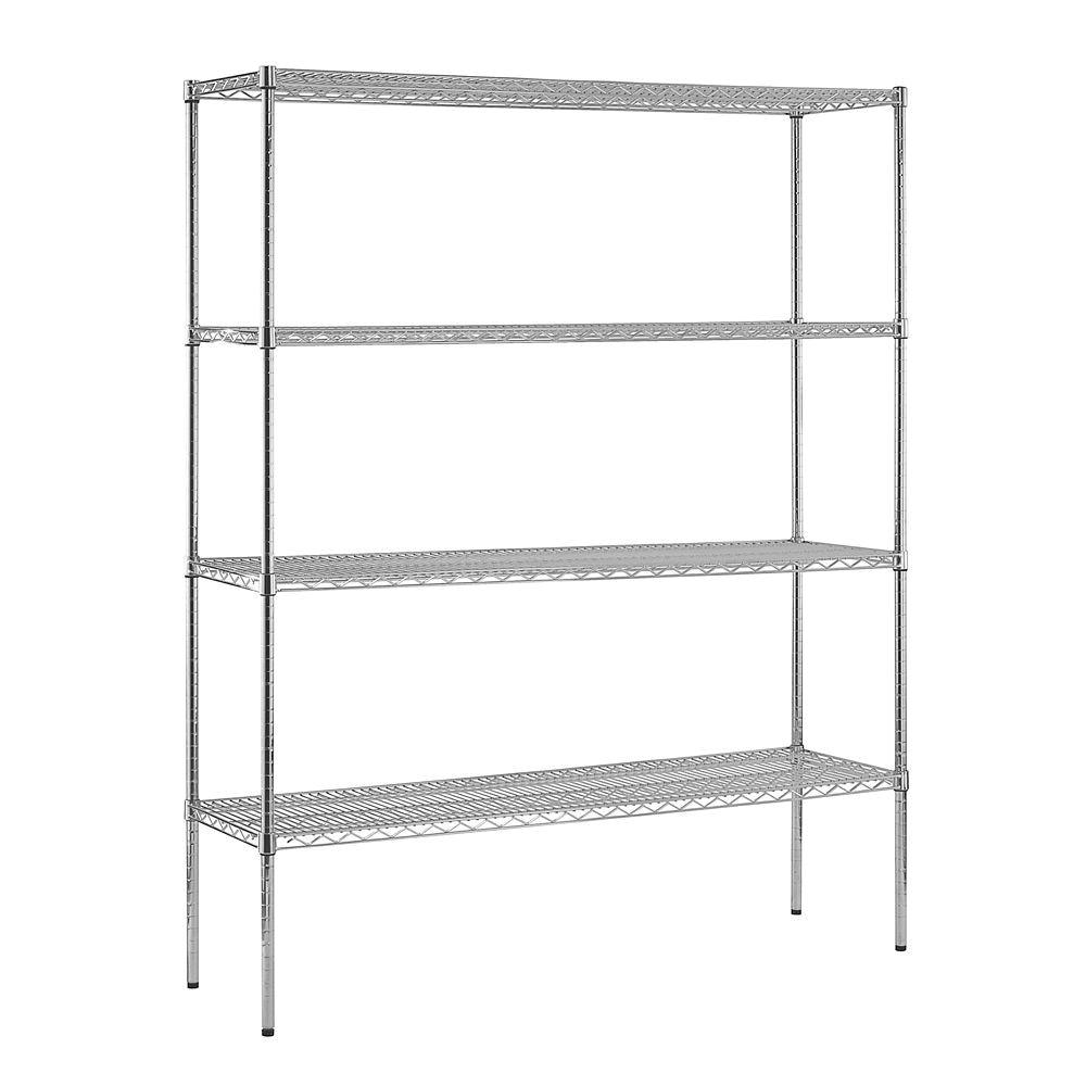 d 4 shelf chrome wire commercial shelving unit ws721874 c the home depot