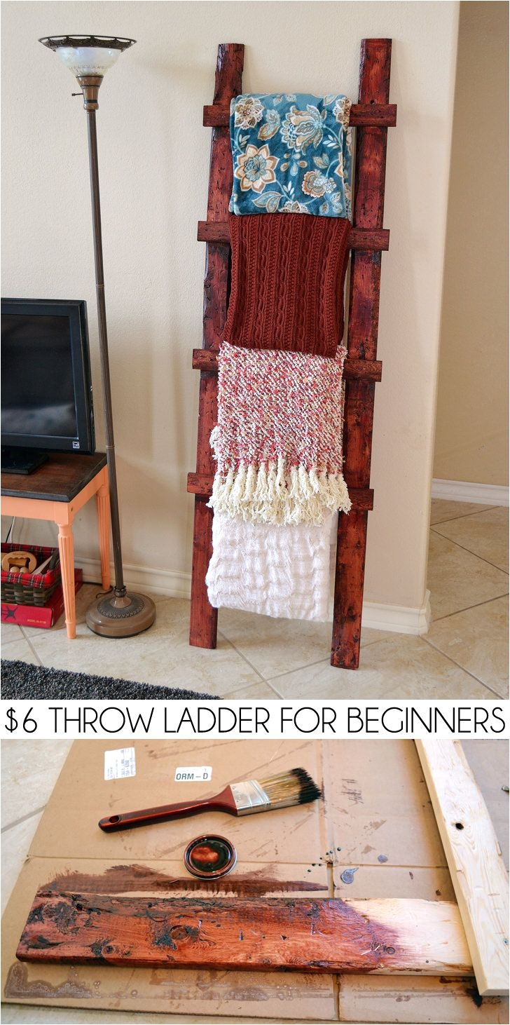 Wooden Blanket Rack Plans 6 Throw Ladder for Beginners Woodworking Apartments and Craft