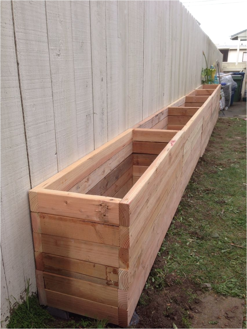2x4 planter box our backyard is narrow so we want to take advantage of our south facing fence