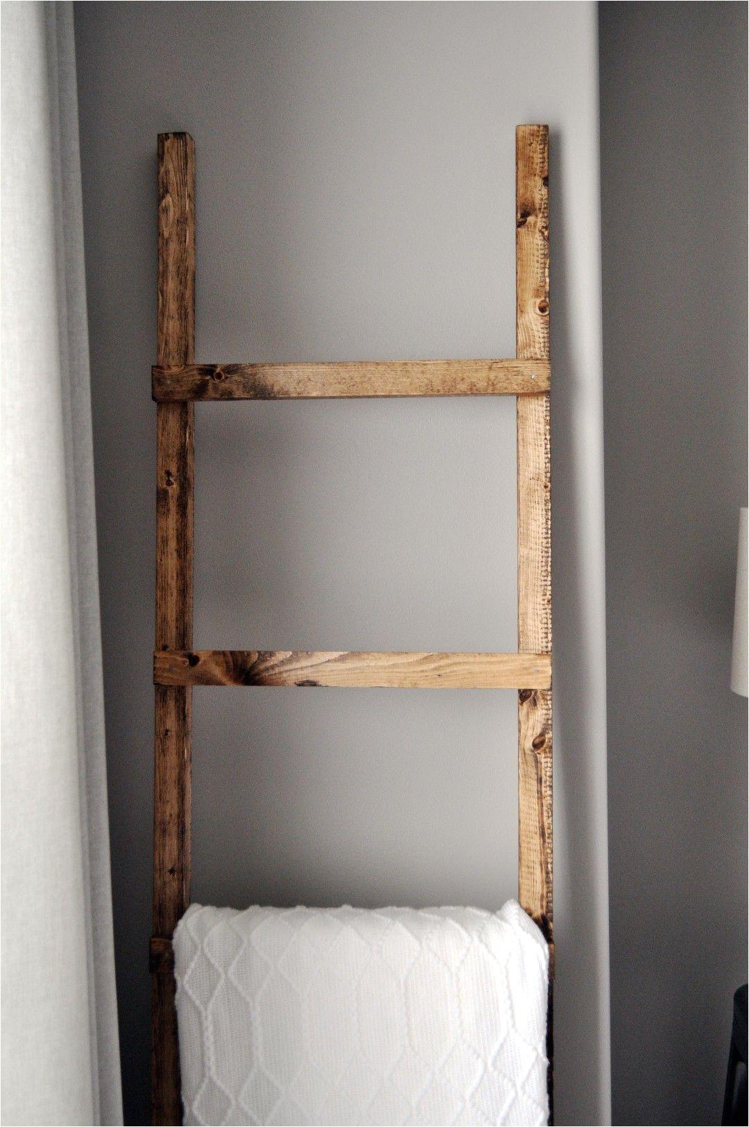 diy blanket ladder aka towel holder