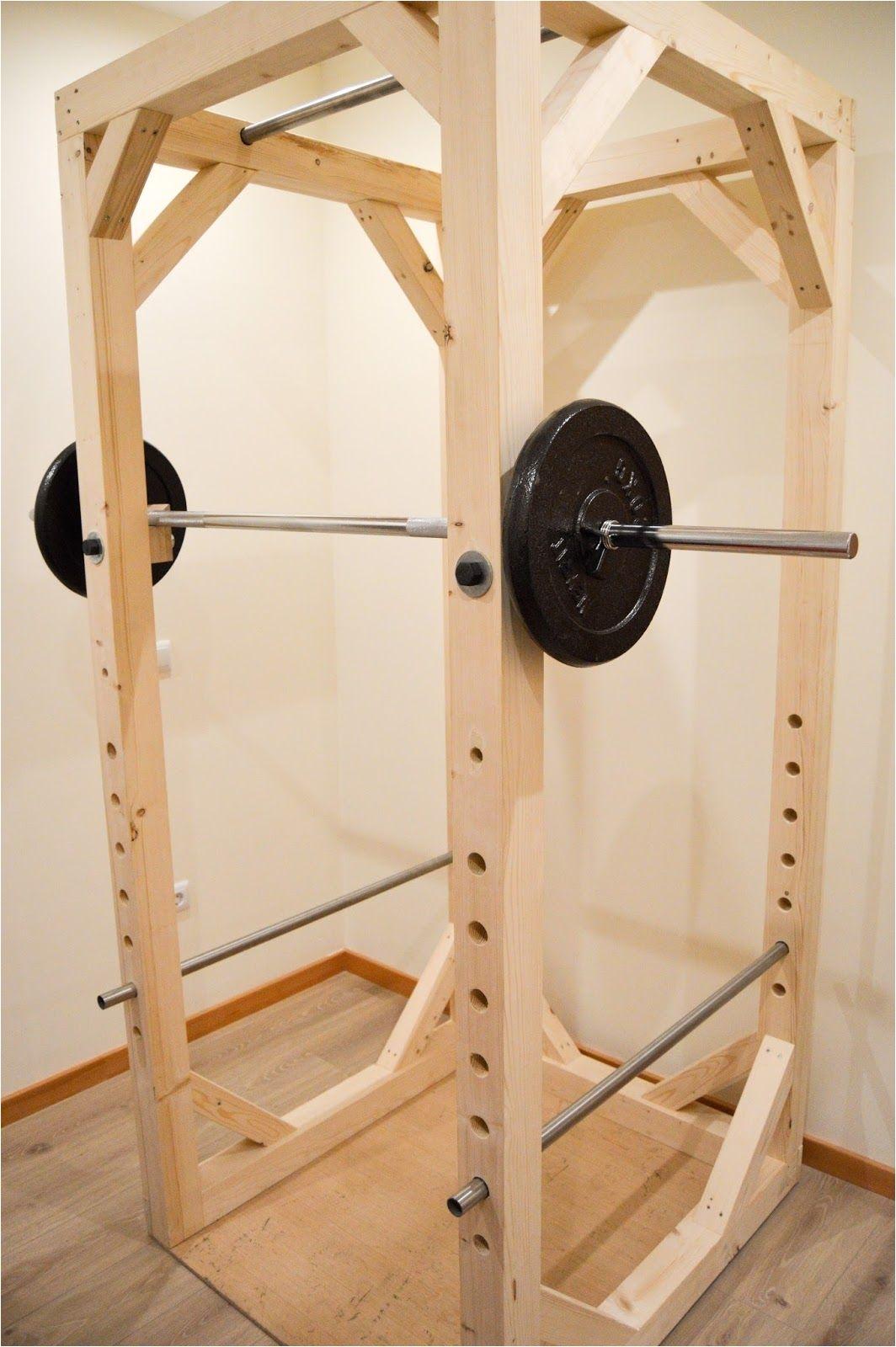 Wooden Squat Rack Blueprints Homemade Diy Power Rack Iron Add