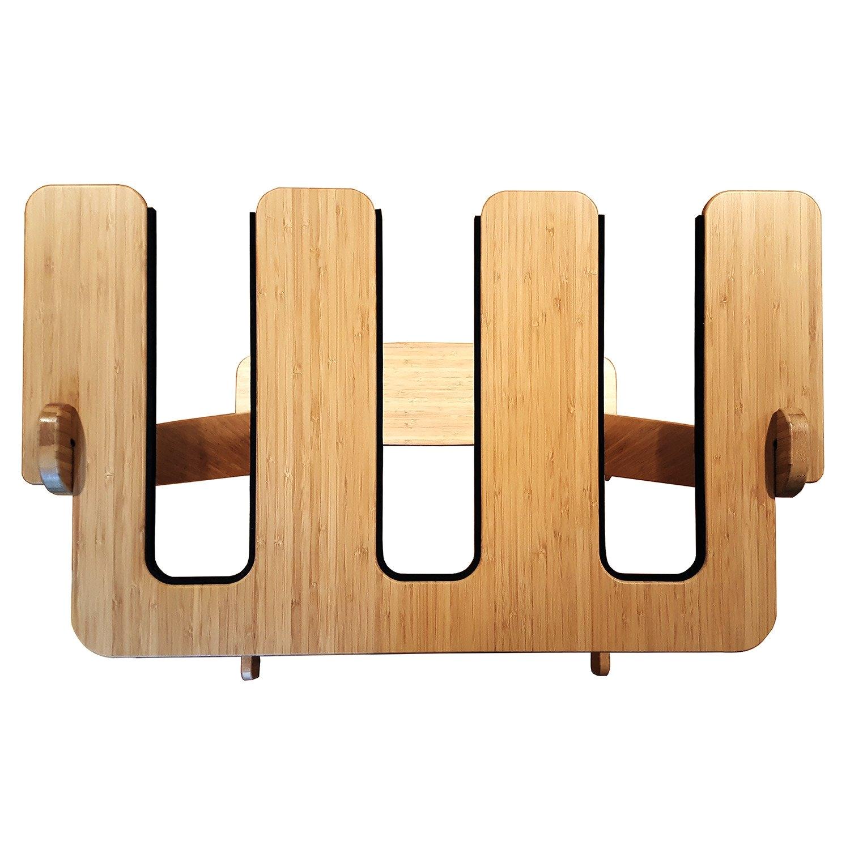 bamboo vertical freestanding surf rack by grassracks
