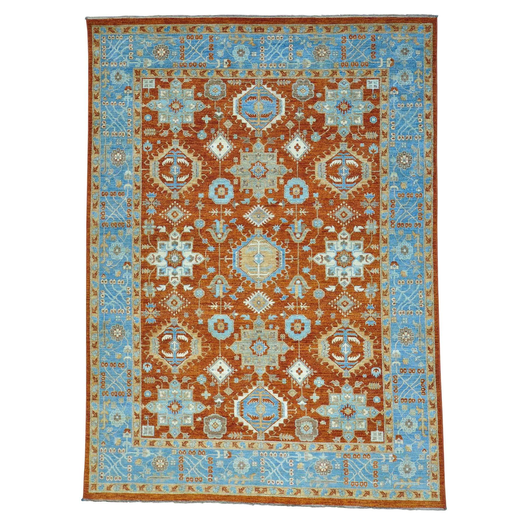 9 x12 2 peshawar with karajeh design pure wool handmade oriental rug sh27757
