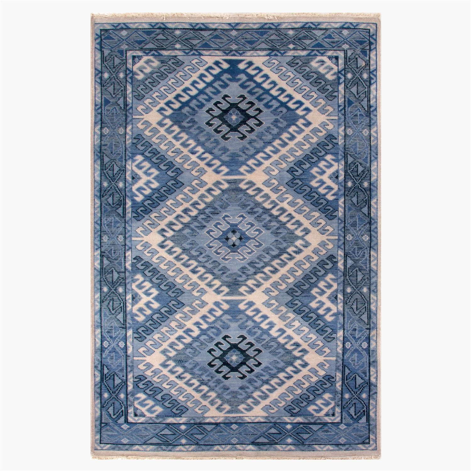 our amansala indigo wool rug is a modern take on traditional rug designs sophisticated neutral color palette in shades of warm coral