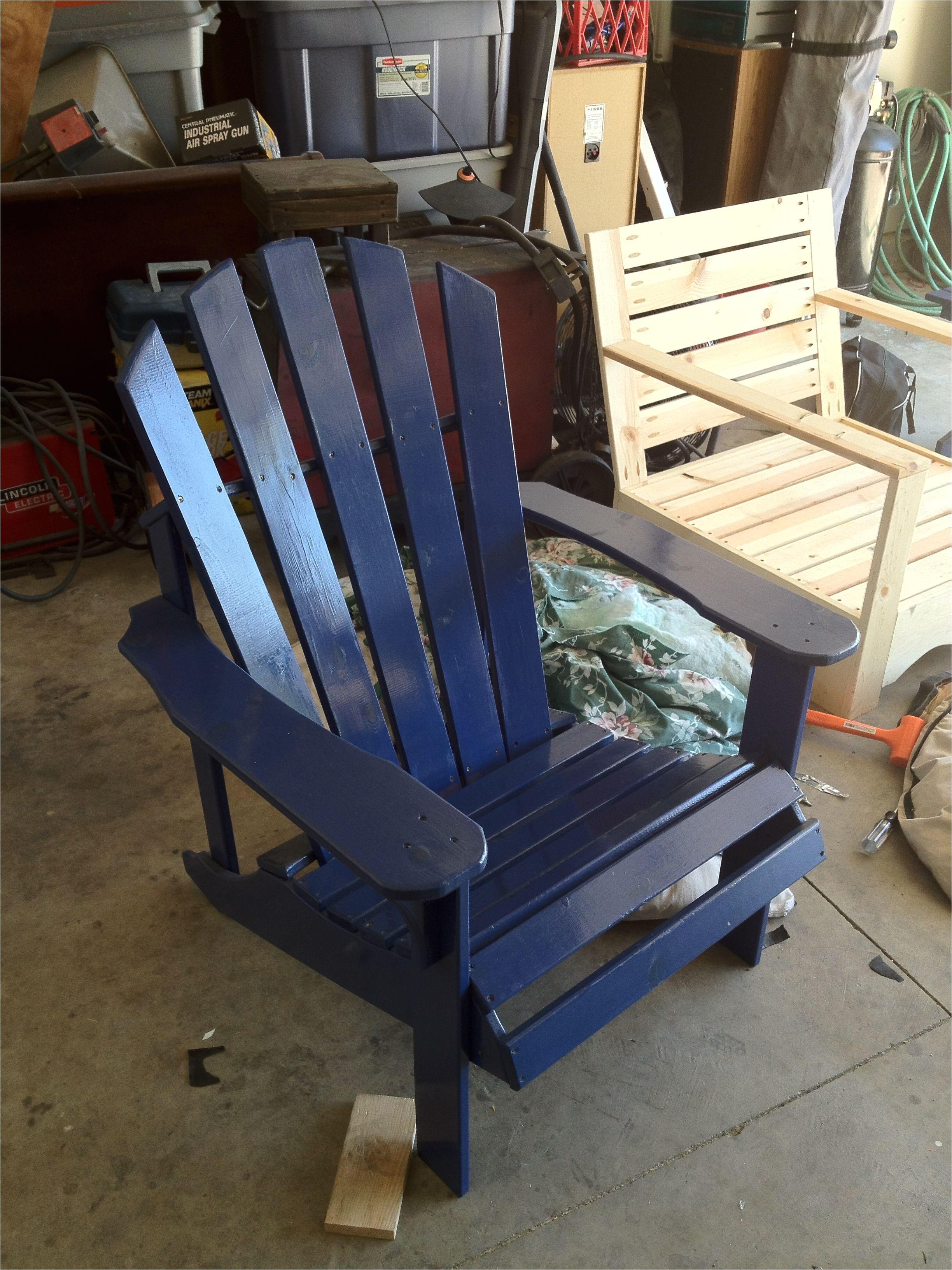 custom blue adirondack chair
