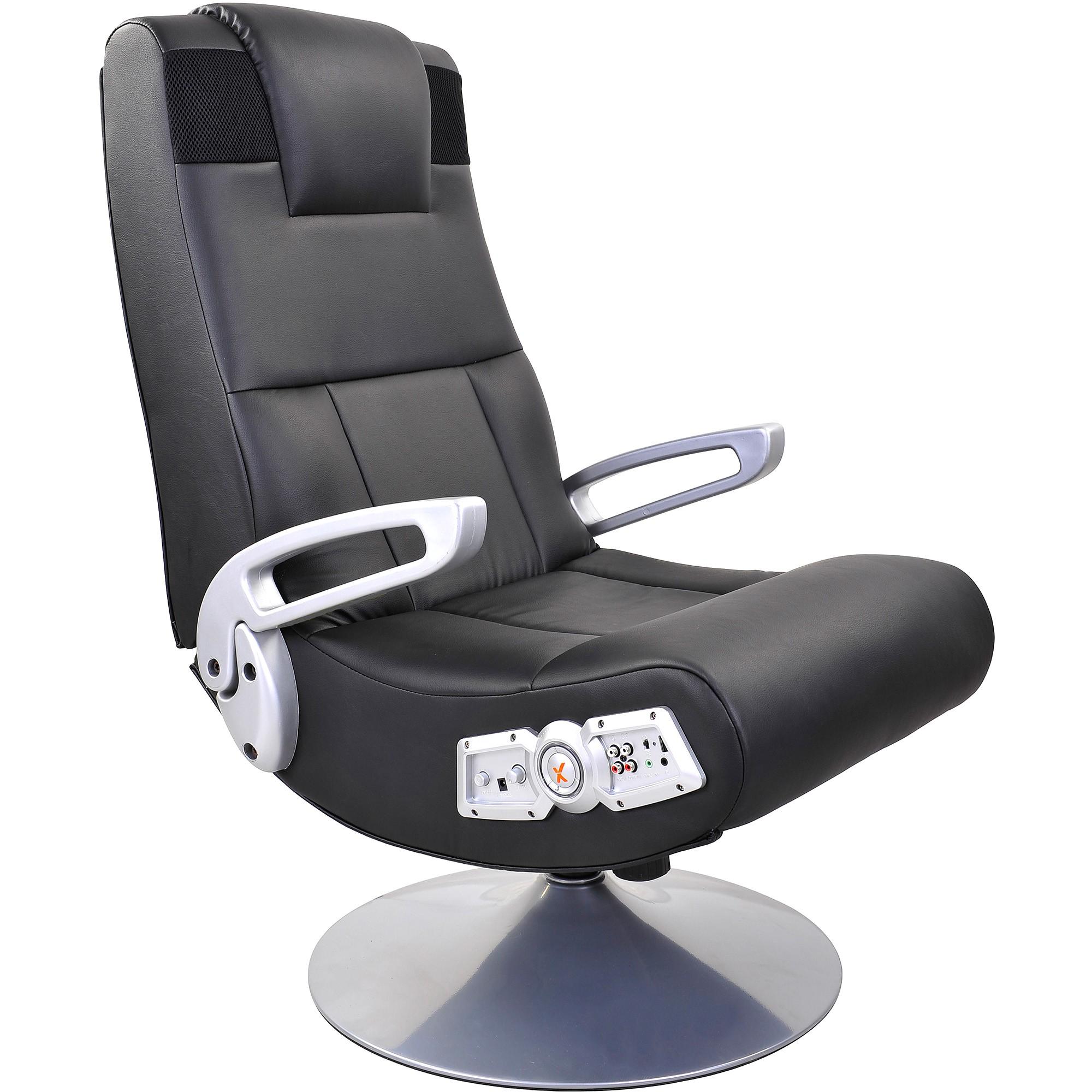 x rocker pedestal video rocker gaming chair with bluetooth technology walmart com