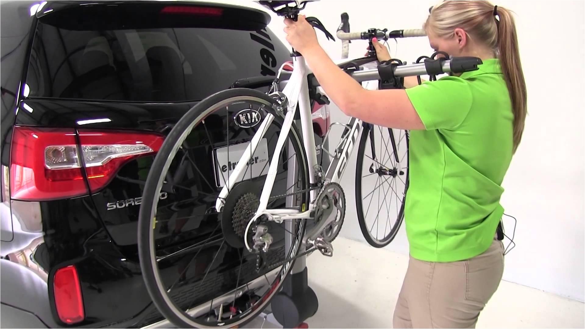 review of the yakima ridgeback hitch bike racks on a 2014 kia sorento etrailer com