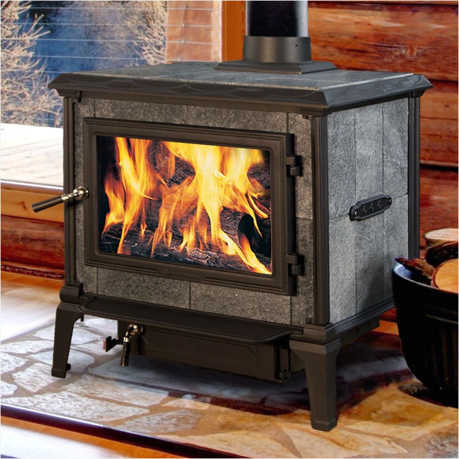 mansfield 8012 wood stove by hearthstone heats up to 2500 sq ft of fireplace august 2017