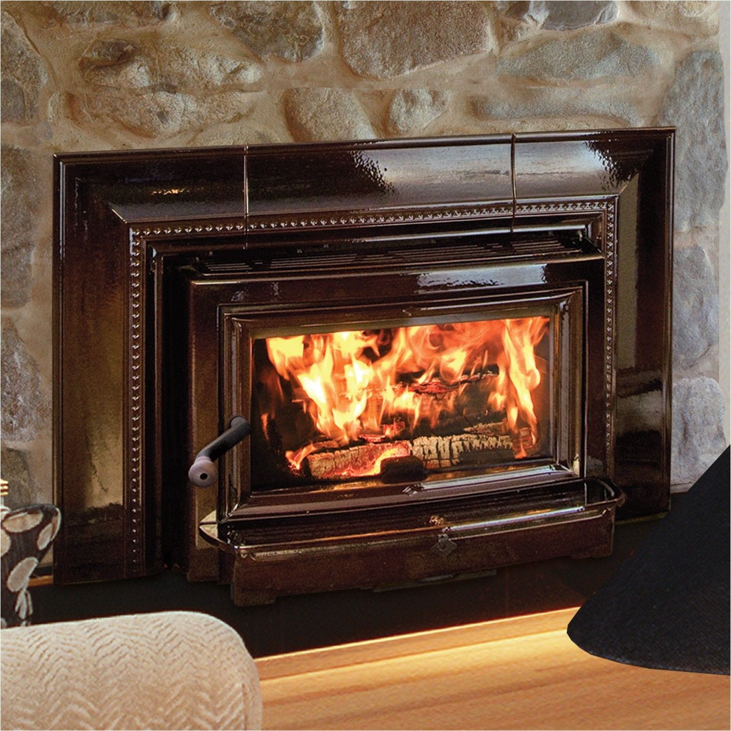 hearthstone insert clydesdale 8491 wood inserts heats up to 2 000 sq ft firebox capacity 2 4 cu ft size 75 000 btus epa certified 3 2 gph efficiency