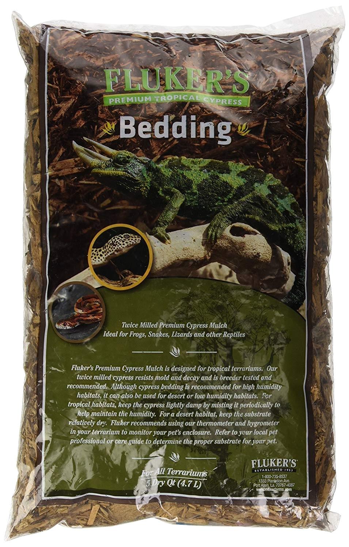 amazon com fluker s premium tropical cypress bedding for reptile 5 quart pet supplies