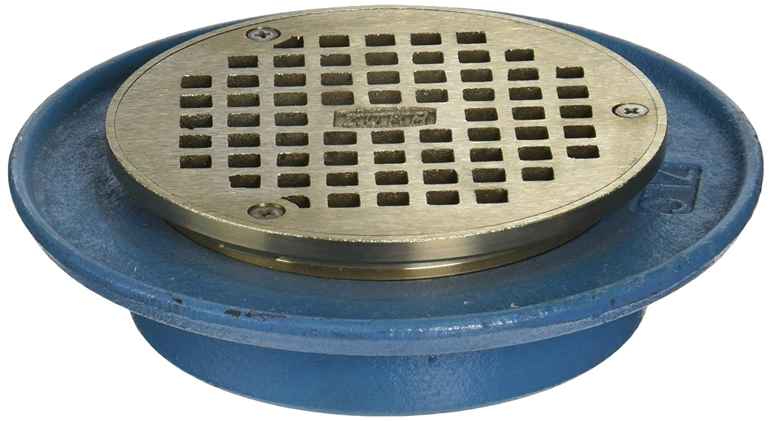 zurn fd2322 ip2 low profile adjustable area floor drain 2 ips connection amazon com industrial scientific