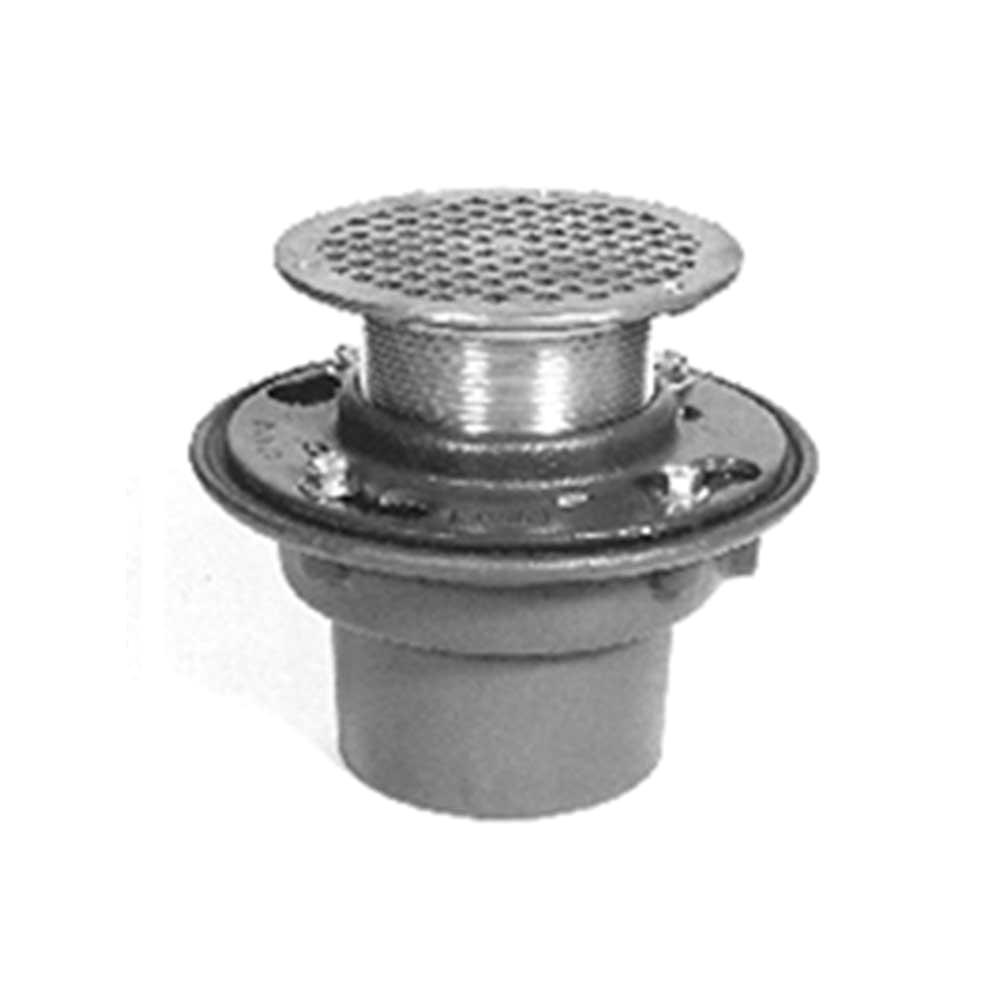 zurn zb415 floor drain with 7 heel proof type b polished bronze strainer
