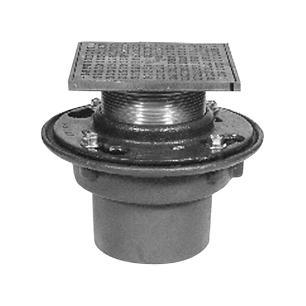 zurn zn415 floor drain with 6 heel proof type s nickel bronze strainer