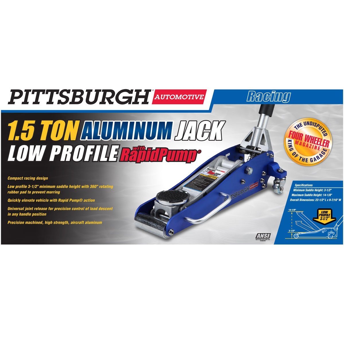 Aluminum High Lift Floor Jack 1 5 ton Aluminum Racing Floor Jack with Rapid Pumpa