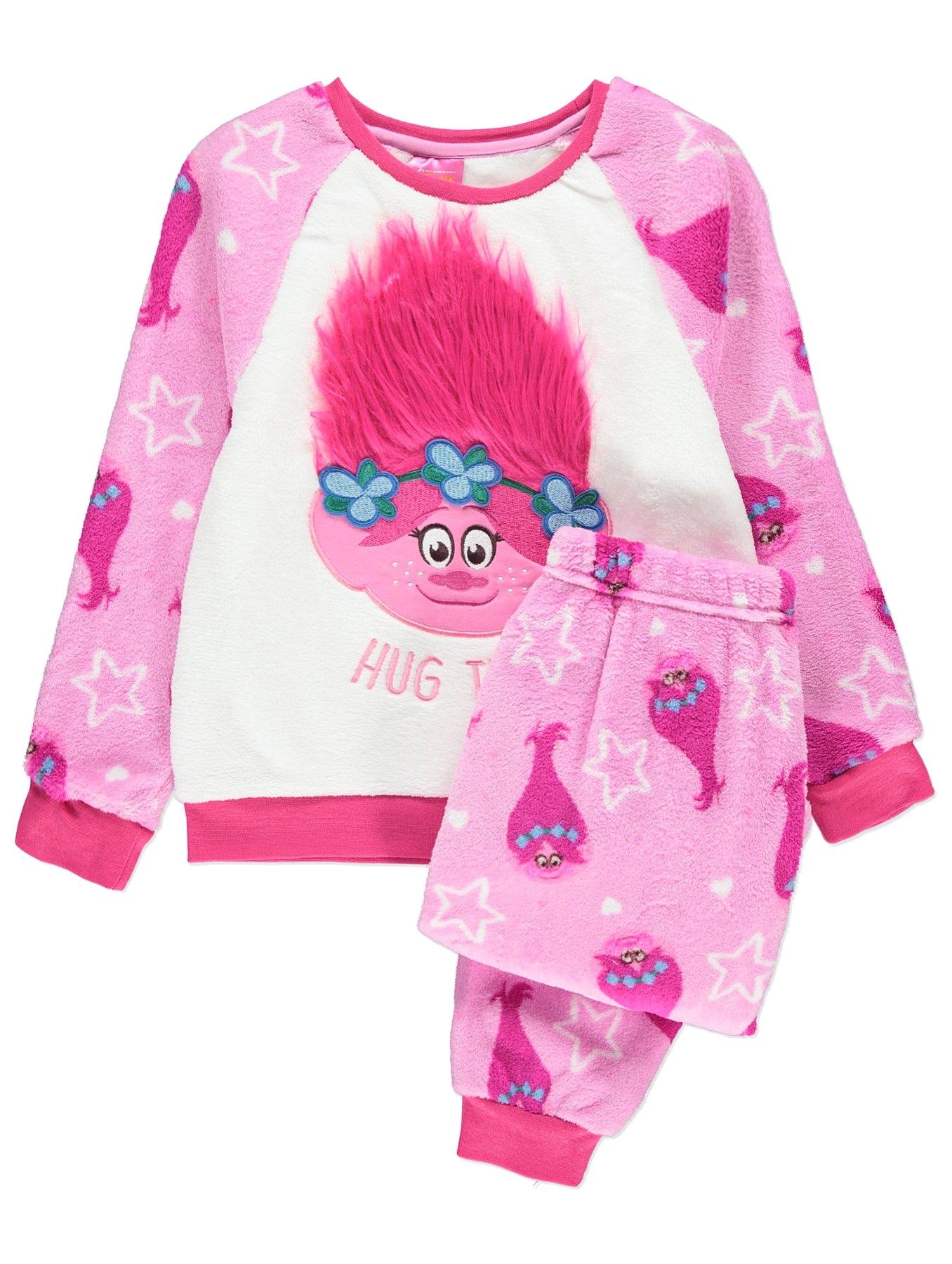 Asda Children S Floor Mats Trolls Fleece Pyjamas Kids George